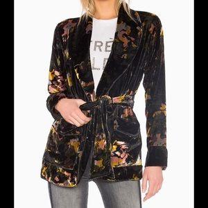 MOTHER Velvet Wrap Up Floral Jacket
